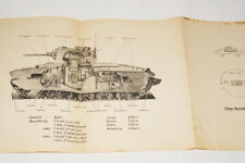 WWII WERMACHT UNITE ANTICHARS ALLEMAGNE CHAR ANGLAIS MARK II  PANZER 1943