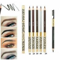5 Colors Waterproof Eyebrow Pencil Eyeliner Eye Brow Pen+Brush Makeup Tools Kit