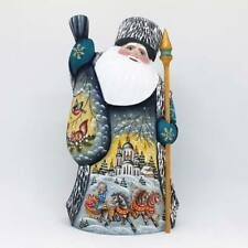 Russian Ded Moroz Father Frost Santa Figurine Carved wood Christmas #22