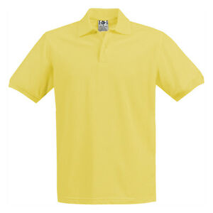 Boys & Girls Yellow Pique Polo Shirt School Uniform Short Sleeve Sizes 4 to 18