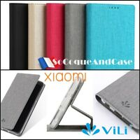 Etui coque housse VILI Cuir PU Leather Wallet Case Cover Gamme XIAOMI (All)