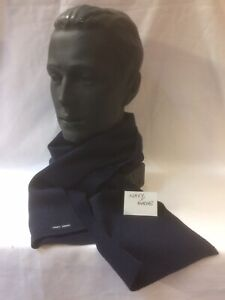 100% Wool Knit Scarf in navy blue by Saint James – Made in France 1.610x180mm.