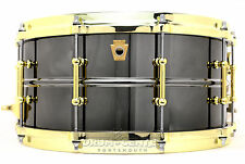 Ludwig Black Beauty Snare Drum w/ Brass Trim 14x6.5 - Video Demo