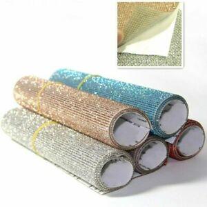 Self Adhesive Faux Diamond Crystal Sticker Bling Car Decor DIY Material 40*12CM