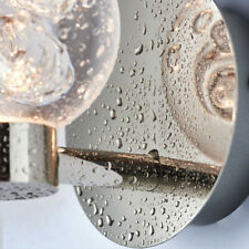 LED Bathroom Wall Light with Bubble Detail Chrome Plated + Pull Cord 3W IP44