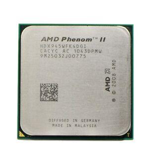 AMD Phenom II X4 945 Quad Core 3GHz 6MB Socket AM2+ AM3 Processor HDX945WFK4DGM