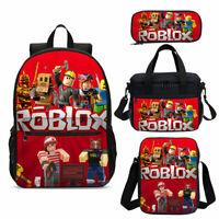 Roblox School Bag Set 4PCS Kids Backpack Shoulder Bag Lunch Bag Pen Bag Lot 2020