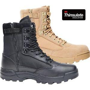 Brandit Tactical Boot Zipper 9017 Unisex Leder Einsatz Outdoor Stiefel 9-Loch RV