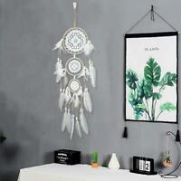 Handmade Lace Dream Catcher With Feather Wall Car Hanging Decor Ornament Coffee