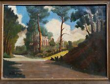Tableau Peinture Paysage forêt  A. SAILLOT XX ÈME hst