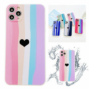 Love Heart Silicone Cute Soft Phone Case For iPhone 11 12 Pro Max XS XR 7 8 Plus