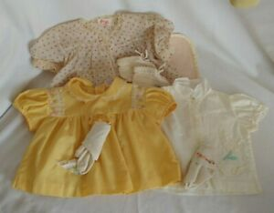Lot of 1950s Baby Clothes dresses tops socks blanket booties doll clothing