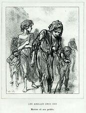 Gavarni: Masques et Visages. 66. Les Anglais chez eux, 3. Caricatura.Satira.1857