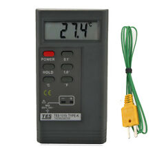 New TES 1310 Digital Thermometer Meter Tester with K TYPE Temperature Probe