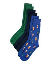 HOT SOX for Men 3-Pack Beer Crew Cotton Blend Socks NWT $28 Size 10-13