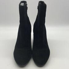 Via Spiga Black Suede Wedge Booties Size 6.5M