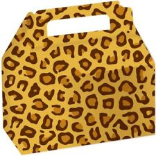 LEOPARD ANIMAL PRINT FAVOR BOXES (2) ~ Birthday Party Supplies Treat Goody Loot