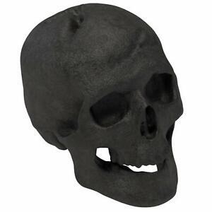 Regal Flame Ceramic Propane Gel Ethanol Gas Fireplace Fire Pit Logs Black Skull