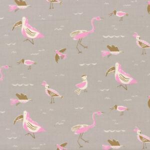 Yucatan Seabirds Limestone Grey Annie Brady 16711 22 Moda Quilting Cotton Fabric
