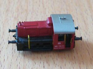 Spur Z, RAILEX Köf II / 2, BR 323, rot, rollfähiges Modell ohne Antrieb