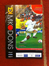 MK Dons v Norwich City - Carling Cup 1st Round 2005/06 Programme