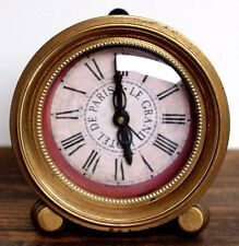 TIMEWORKS HOTEL DE PARIS LEGRAND BRASS DECORATIVE TABLE MANTLE SHELF ALARM CLOCK