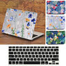 Matt Flower Design Hard Case + Keyboard Cover for Macbook Air Pro 13 and Retina