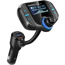 Hands-free Car Kit Bluetooth FM Transmitter Wireless Radio Adapter Mp3 UPGRADED