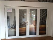 ALUMINIUM BIFOLD DOORS 4 PANEL, NEW 2950 x 2100h, WHITE, IN STOCK