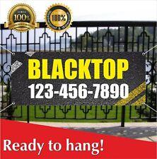 Blacktop Banner Vinyl Mesh Banner Sign Many Sizes Custom Phone Asphalt Covering