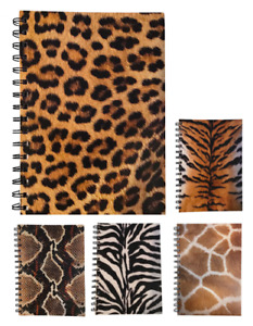 Various Animal Print A5 Lined Notepads 70 Sheets 80gsm