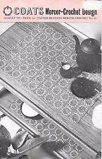 Vintage Coats leaflet 988 tatted mercer crochet no 40 motif trolley cloth c.1965