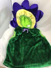 HALLOWEEN COSTUME 3T-4T Plush fully lined VEST FLOWER trick treat dress up