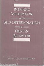 Intrinsic Motivation & Self-Determination in Human Behavior Edward Deci HC 1990