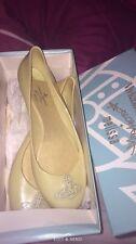 vivienne westwood yellow ballet pumps shoes size 7 new