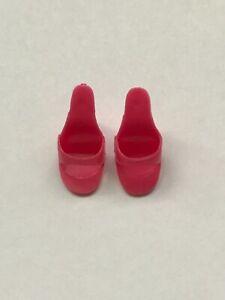Vintage Barbie DUSTY ROSE OPEN TOE SHOES - EXC.  (JAPAN)