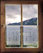2er Set Scheibengardinen Häkelgardine French Country Landhaus Scheibenhänger