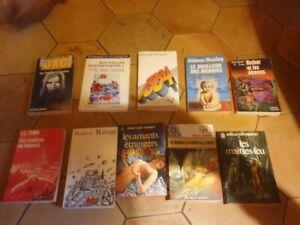 lot 10 livres de poche science fiction fantasy