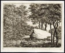 2 Antique Master Prints-LANDSCAPE-BOULDER-TITLE-ETCHING-Bagelaar-1819