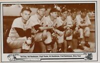 1983 TCMA Postcard # 16 -- 1948 Tigers Pitching Staff Picture -- Stock # 3073