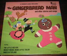 "Walt Disney Lp "" THE GINGERBREAD MAN "" Disneyland Record 1969"