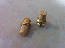 10pcs Pneumatic Filter Silencer Sintered Bronze 1/8