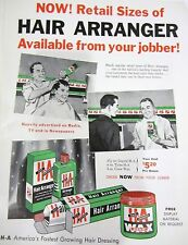 1950's H-A HAIR ARRANGER Barbershop Sign Ad Hair Tonics
