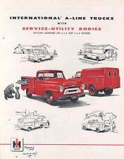 1957 International ServiceUtility Pickup Truck Brochure wl8460-9LPOCV