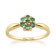Anelli di lusso tondi smeraldo naturali