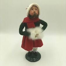 1991 9.25 BYERS CHOICE LTD ED 94/100 GIRL CAROLER FUR MUFF FIGURE