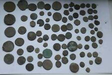 LOT OF 90 MOSTLY LARGE ANCIENT ROMAN IMPERIAL BRONZE COINS III-V CENTURY AD