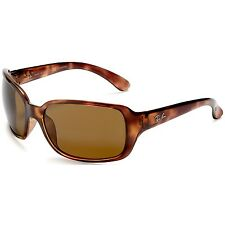 Ray-Ban Women's Polarized Highstreet RB4068-642/57-60 Brown Wrap Sunglasses