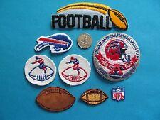 VINTAGE BUFFALO BILLS 25TH NFL NATIONAL FOOTBALL LEAGUE PATCH CREST LOT