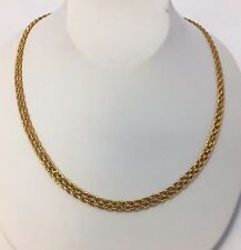 """14K SOLID YELLOW GOLD 3mm THICK BRAIDED STYLE CHAIN NECKLACE 18"""""""